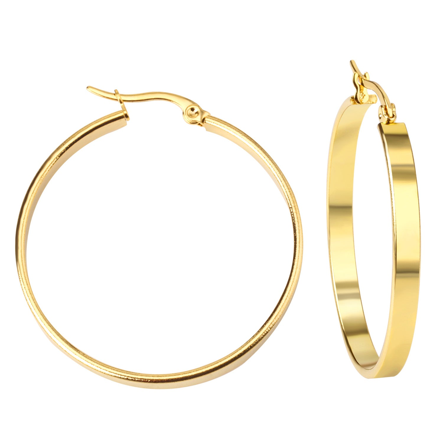 round white plain hoop earrings jewellery creole webstore jones ernest gold product number d
