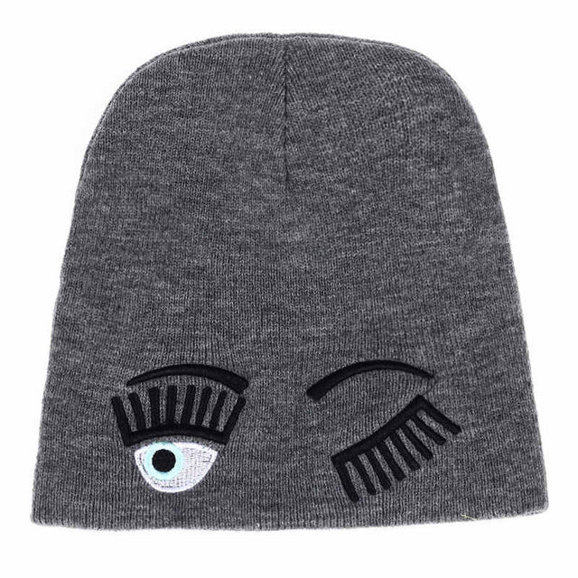 Winking Eye Beanie | Shop Elettra |