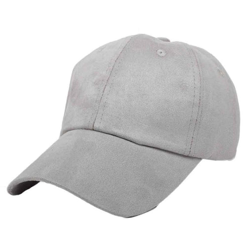 Gray Faux Suede Baseball Cap | Shop Elettra |