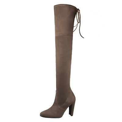 Lanna Suede Over The Knee Thigh High Boots | Shop Elettra |