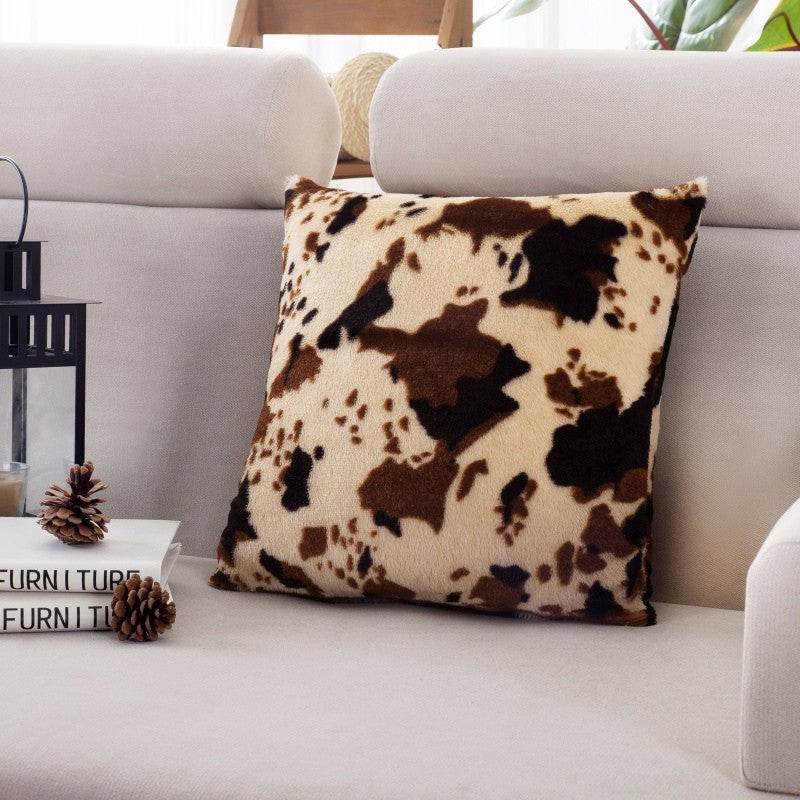 Cow Print Throw Pillow Cover | Shop Elettra |