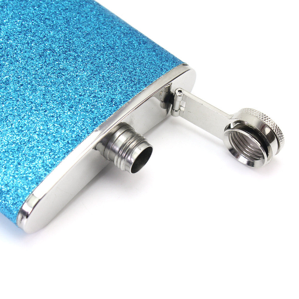Glitter 8 oz Alcohol Flask | Shop Elettra |