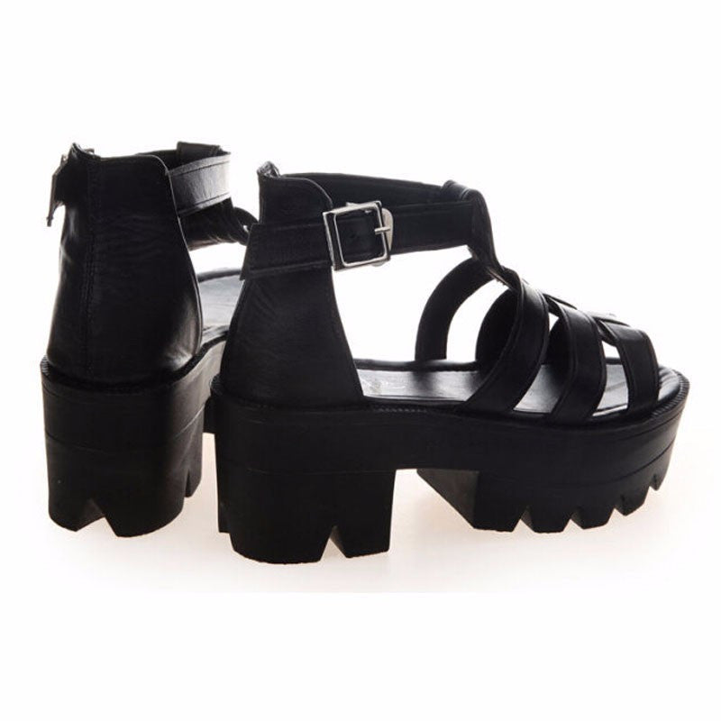 Nel Jelly Platform Sandals | Shop Elettra |