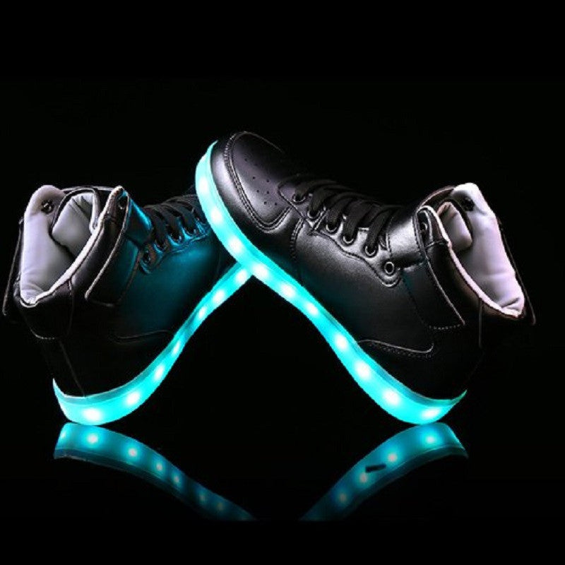 Lovers LED Hightop Light Up Flash USB Sneakers | Shop Elettra |