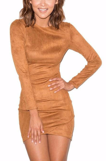 Suede Mini Dress | Shop Elettra |