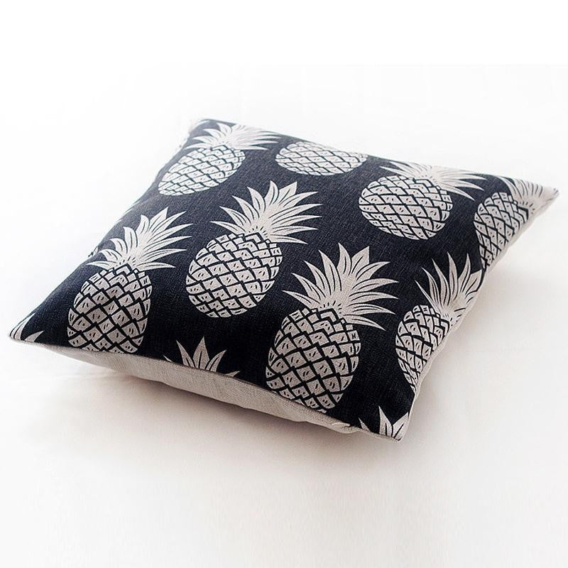 Pineapple Print 18 x 18 Throw Pillow Cover Decor | Shop Elettra |