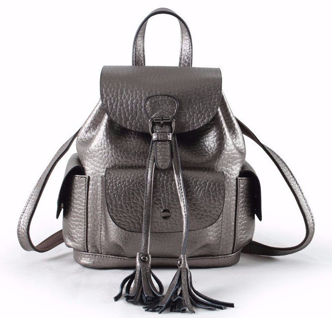Venice Genuine Leather Backpack with Tassels | Shop Elettra |