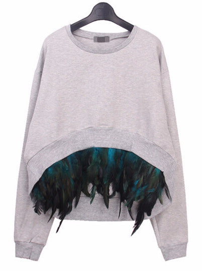 James Feather Pullover Sweater | Shop Elettra |