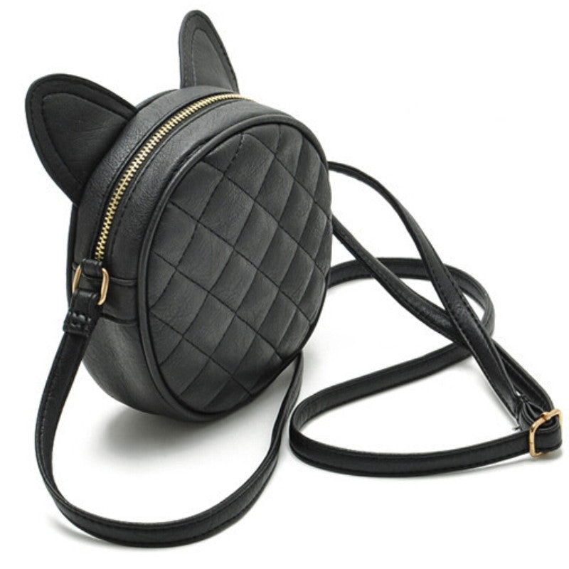 Meow Kitty Cat Ear Quilted Crossbody Bag | Shop Elettra |