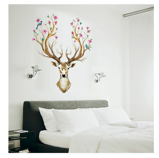 Exceptionnel Flower Deer Wall Decal Sticker Decor | Shop Elettra |