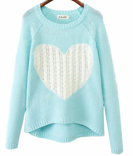 Heart Pullover Sweater | Shop Elettra |