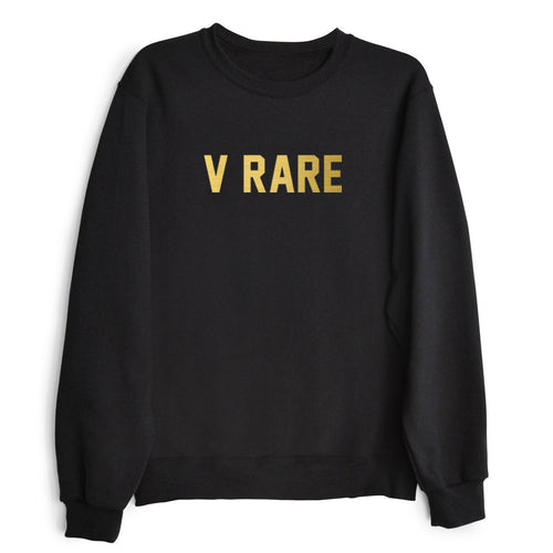 V RARE Black and Gold Pullover Sweatshirt | Shop Elettra |
