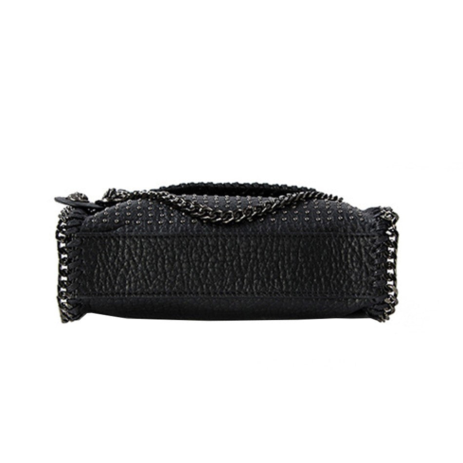 Stud Me Shoulder Bag with Chain Strap | Shop Elettra |
