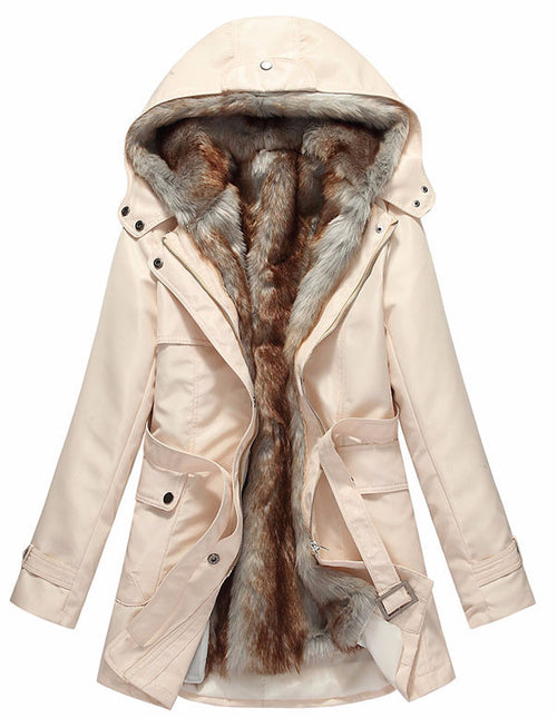 Tessa Fur Lined Parka Jacket | Shop Elettra |