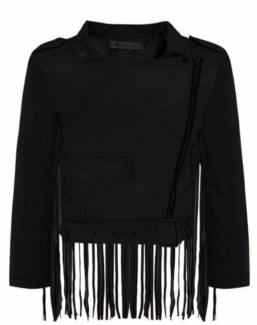 Tucson Cropped Fringe Jacket | Shop Elettra |