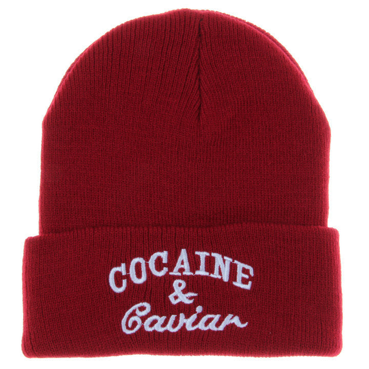 Cocaine and Caviar Knit Beanie Hat | Shop Elettra |