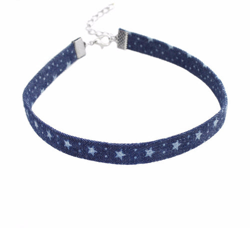 Meli Denim 90s Choker Necklace | Shop Elettra |