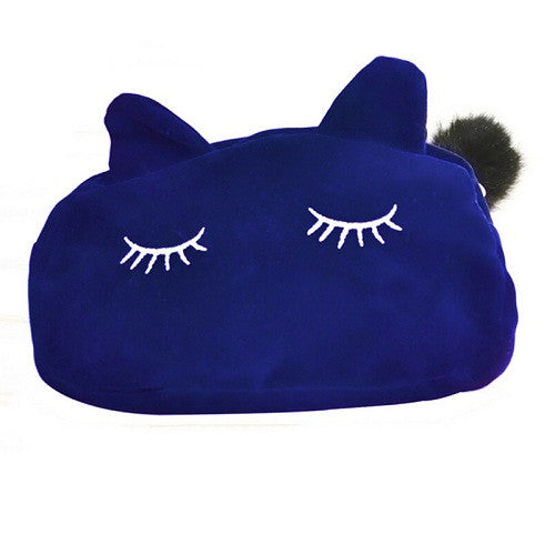 Pretty Kitty Cosmetic Makeup Bag | Shop Elettra |
