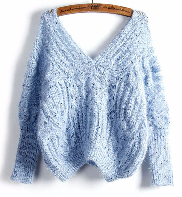 Michelle Batwing Cropped Knit Sweater | Shop Elettra |