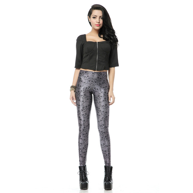 Silver Skully Leggings | Shop Elettra |