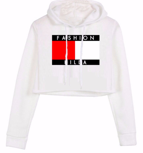 Fashion Killa Cropped Hoodie | Shop Elettra |
