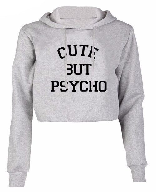 Cute But Psycho Cropped Hoodie | Shop Elettra |