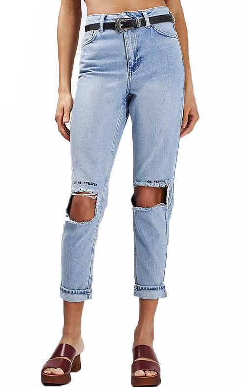 Forever or Never Distressed Jeans | Shop Elettra |