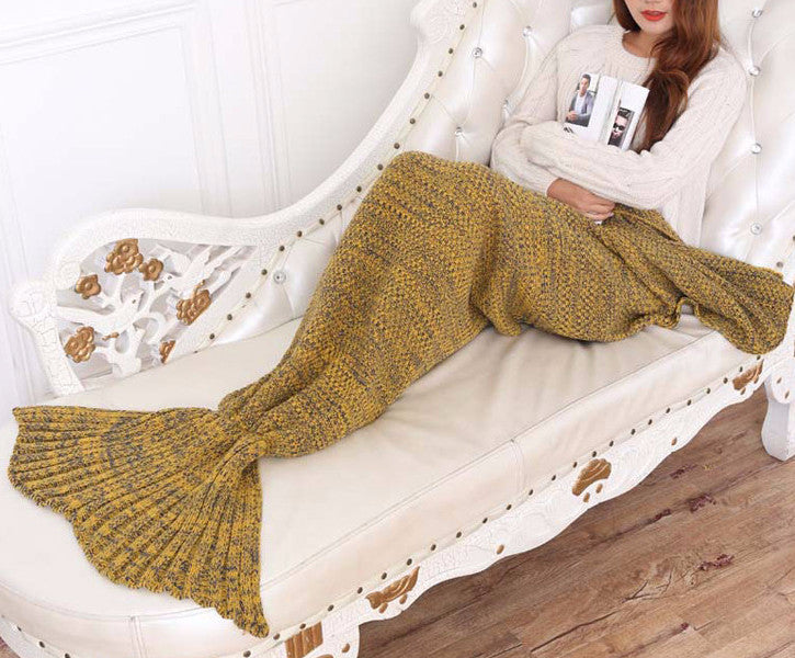 Mermaid Tail Soft Hand Knit Blanket | Shop Elettra |