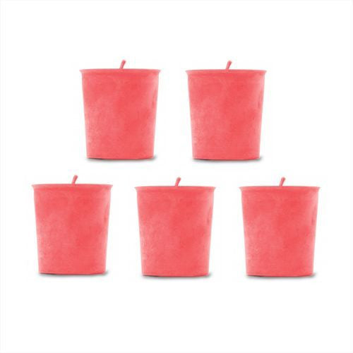 Raspberry Scented  Handmade Soy Candles – 5 Pack | Shop Elettra |