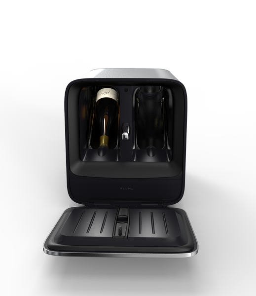 Plum holds any two standard bottles of wine, preserving them for 90 days