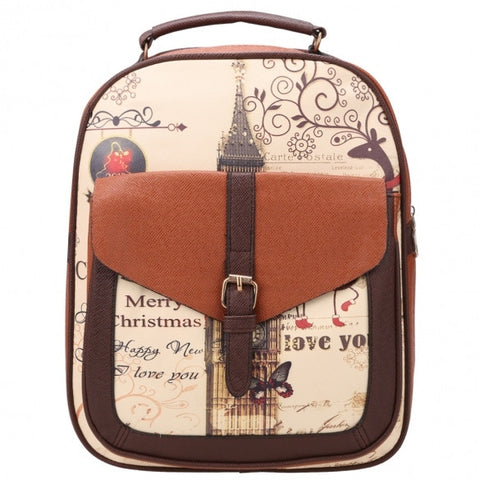 Synthetic Leather Printing College Bag