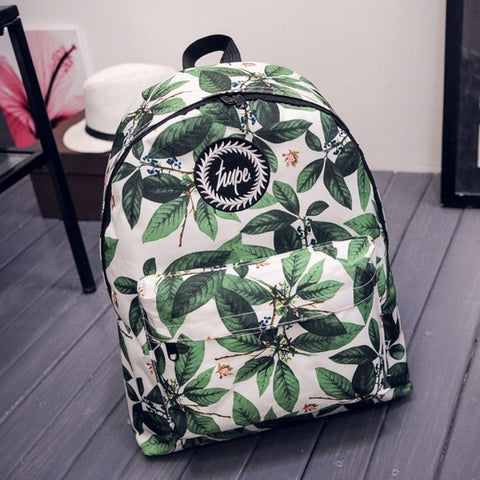 Casual Print Backpack