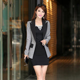 Candy Color Long Sleeve Business Coat