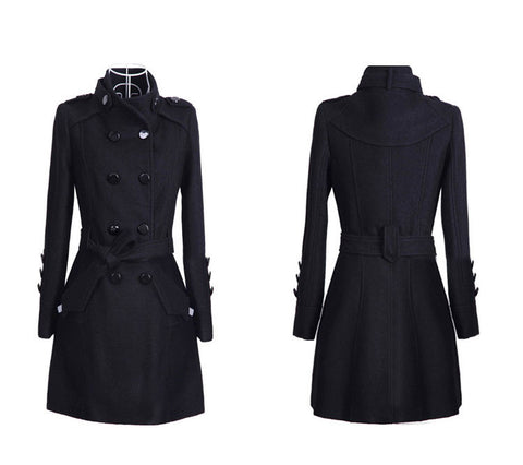 Double Breasted Trench  Coat Up to 4XL