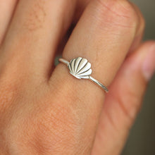 solid 925 sterling silver Shell Ring,Beach Shell ring,Seashell ring,Ocean ring,sea jewelry,gift for her