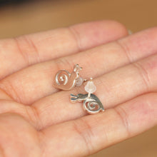 925 Sterling silver snail stud earrings,animal lover jewelry,silver Post Earrings,daughter gift,