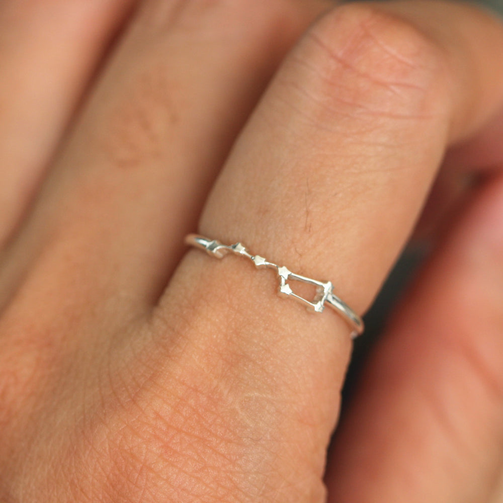 Load image into Gallery viewer, Solid 925 sterling silver Star ring, North Star ring, Polaris ring, Dainty ring,Minimalist silver jewelry,friendship ring gift ifea