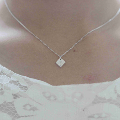 925 sterling silver Diamond Initial necklace sterling silver Tiny Initial Necklace Personalized Monogram Necklace letter necklace alphabet jewelry,Valentine's Day gift S36N