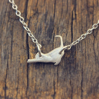 925 sterling silver HALLOWEEN CAT NECKLACE 925 Sterling Silver Cat Charm Meow Pet Jewelry