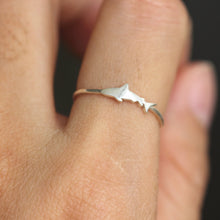 shark ring,sterling silver fish ring,ocean ring