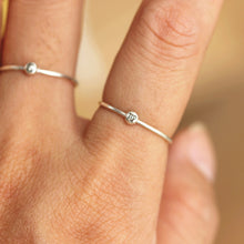 Custom zodiac ring/tiny ball ring,/Minimal Stacking Rings,Sterling Silver jewelry,Custom Gift for Friends, Sisters, Girlfriend