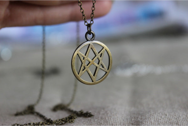 Symbol Of The Men Of Letters Aquarian Star Necklace Inspired