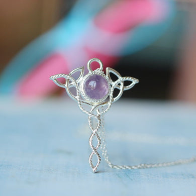 Celtic Knot Pendant Amethyst necklace