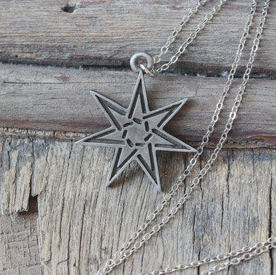 7 pointed Star charm necklace