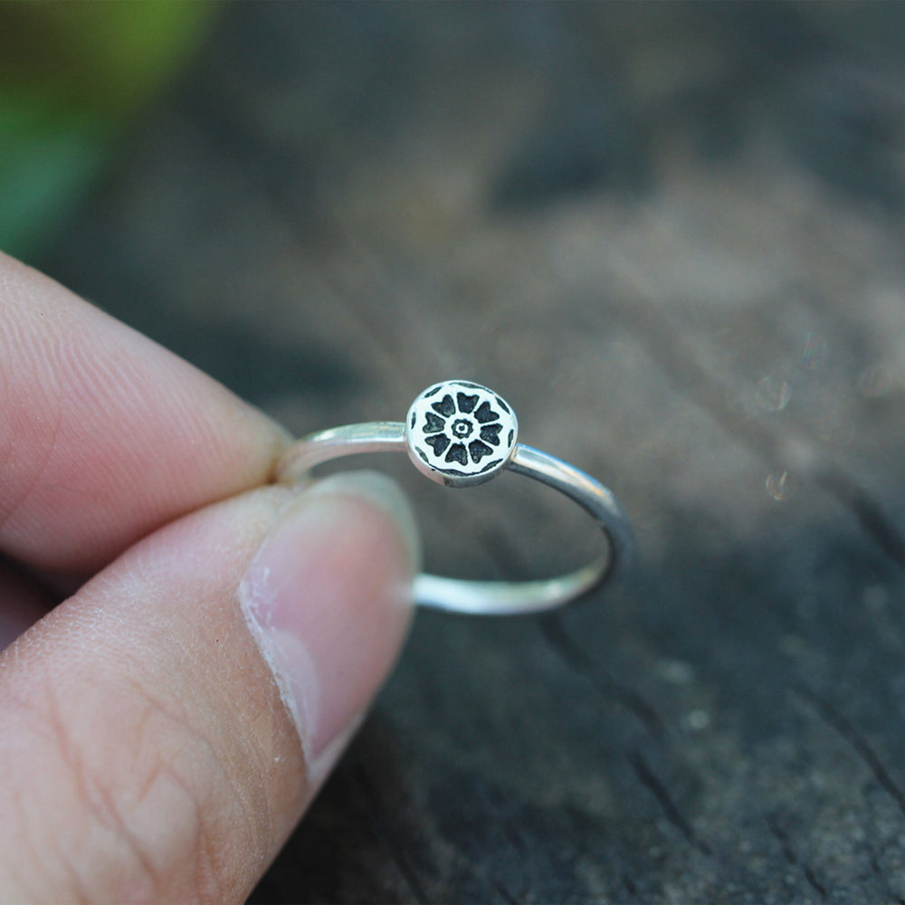 925 sterling silver White Lotus RING,custom silver ring,Stacking Ring,yoga ring,lotus jewelry,Fashion Jewelry FL107R