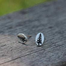 silver pine tree stud earrings,Evergreen Tree,tree earrings,trees,pine earrings,silver stud earrings,inspiration jewelry,woman earrings