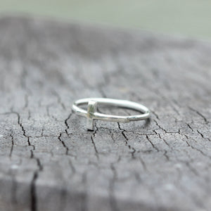 Load image into Gallery viewer, silver cross ring,silver Sideways Cross Ring,Christian ring,Christian jewelry