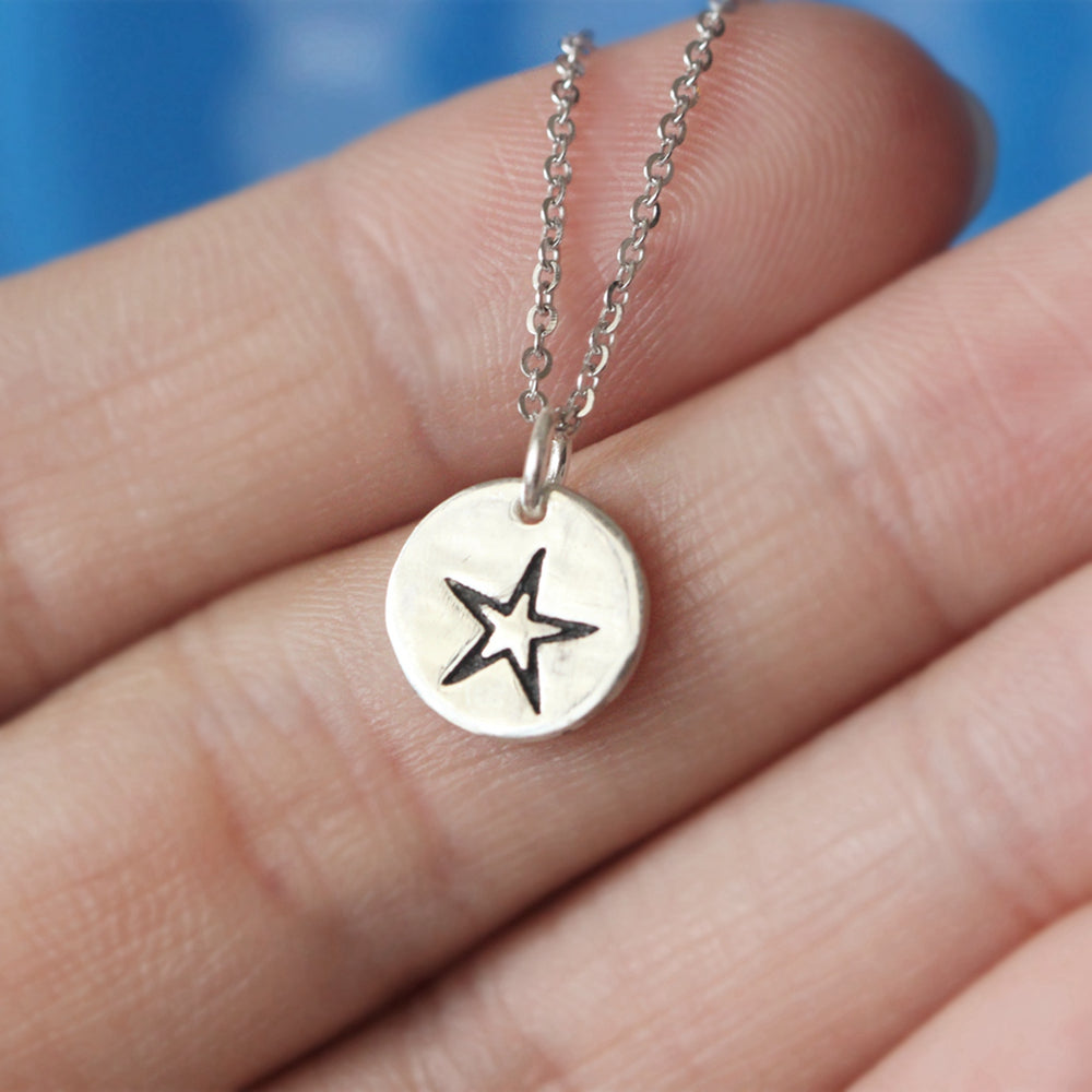 925 sterling silver five pointed star necklace Dainty Silver Necklace, Sterling Silver Star Necklace