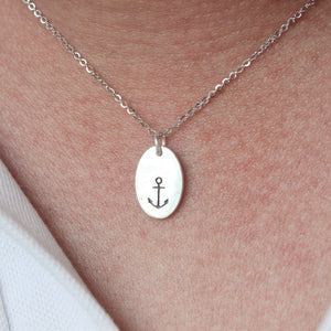 Load image into Gallery viewer, 925 sterling silver anchor necklace, Anchor Choker Necklace, Silver Necklace, Layering Jewellery, Dainty Necklace,Silver Nautical Jewelry