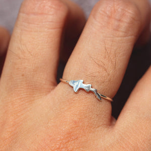 Load image into Gallery viewer, 925 silver Hammerhead shark ring,silver fish ring,ocean animal jewelry,beach jewelry